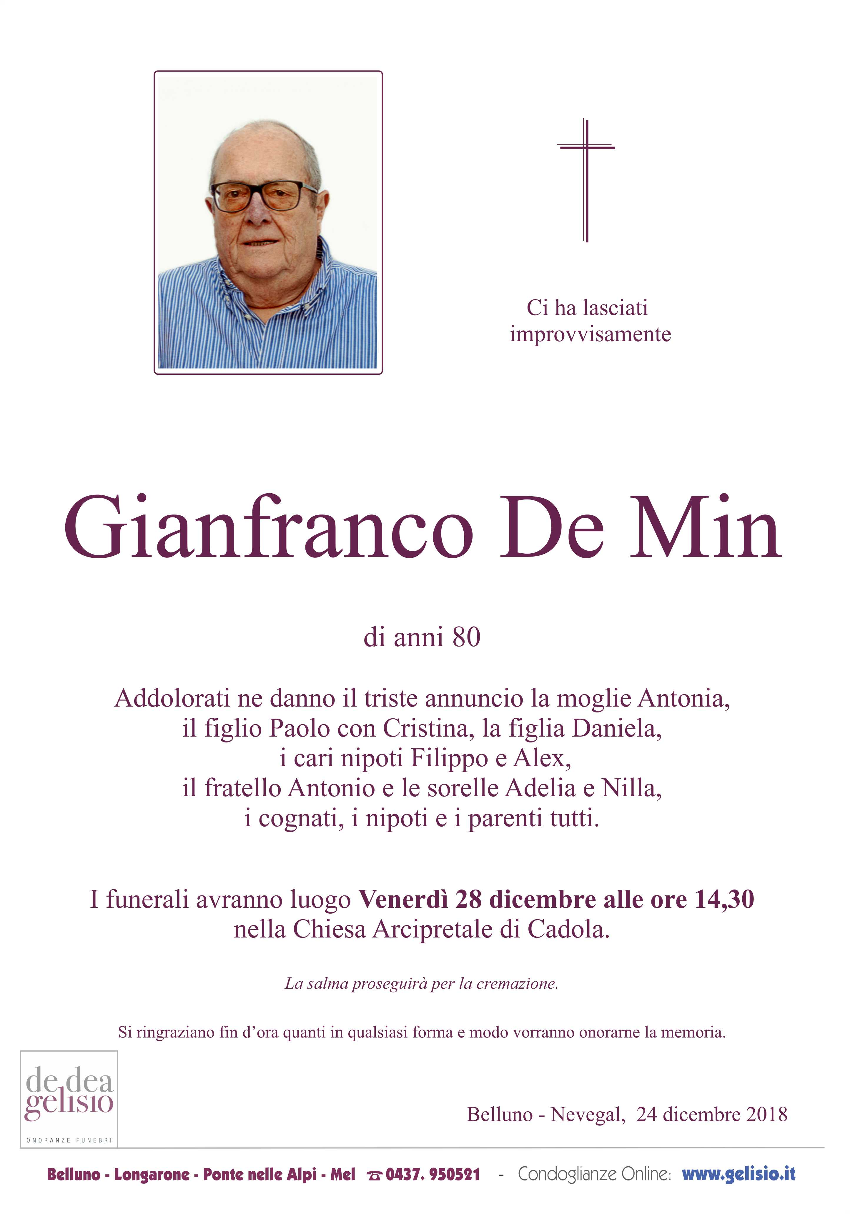 De Min Gianfranco